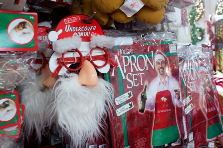 ABINGTON, MA, December 7, 2013 — Santa Claus nose and beard glasses sets were among some of The Christmas Place's novelty holiday items.