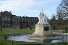 Kensington Palace, in Kensington Gardens, home to royal residents. It was previously the official residence of Diana, Princess of Wales.