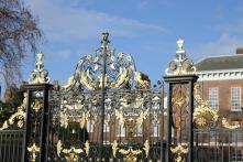 The gates of Kensington Palace.