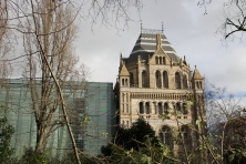 London's Museum of Natural History, as seen from a distance from Exhibition Road in South Kensington.
