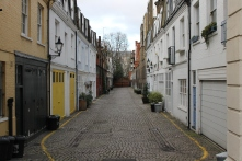 """South Kensington is filled with """"mews,"""" adorable little residential nooks crowded with homes."""