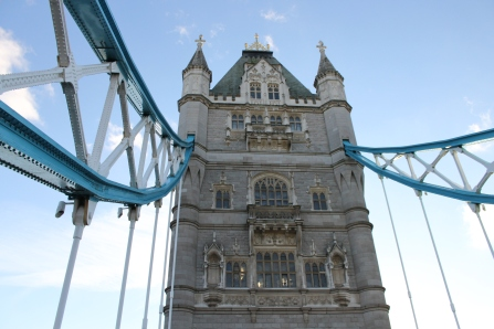 One of the famous bridge's towers.