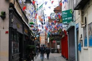The Dame Street area, which is chock full of pubs and clubs and often crowded with locals.