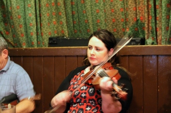 This violinist, along with her band, played a session at a pub in downtown Galway.