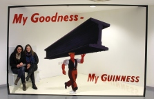 My roommate (L) and me (R), posing as part of an old Guinness advertisement.