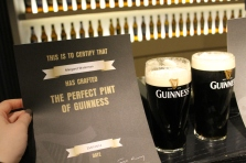 As part of the Guinness factory tour, I learned how to pour a perfect pint of Guinness.