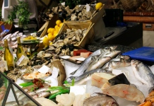 Harrods' food court is amazing, featuring restaurants, fresh fish, beef, poultry and more.