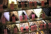 Harrods also has a legendary confectionary room, filled with cases upon cases of all kinds of exotic chocolates and sweets.