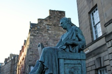 A statue on Edinburgh's Royal Mile, one of the city's oldest streets.