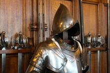 A suit of armour inside Edinburgh Castle.