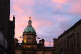 A gorgeous sunset over the city of Edinburgh.