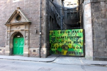 Some Edinburgh street art on Cowgate, the street on which my hostel was located.