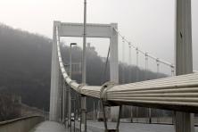 A bridge, stretching over the Danube River.