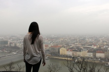 My friend Kim looking over the Danube toward Pest.