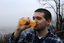 My friend Conor bought a Fanta, of all things, atop the citadella.
