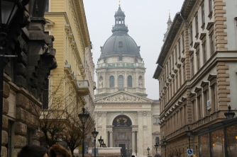 St. Stephen's Basilica from afar.