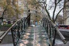 The slipperiest bridge in Budapest.
