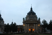 The thermal baths in the city park, from the outside. I didn't bring my camera in.