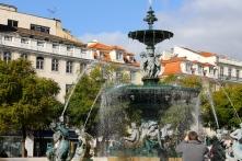 A fountain in the same square.