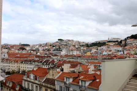 A view of Lisbon, from high up.