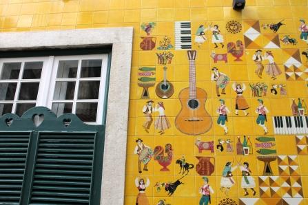 Some street art in Lisbon.