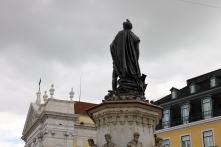A monument in a Lisbon square.