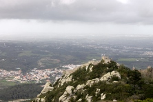 The view of Moorish castle from Pena.