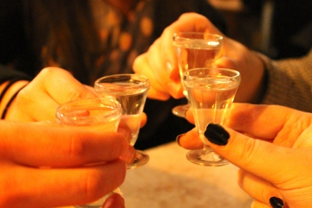 """After an amazing dinner, we were offered free shots of """"moonshine."""""""