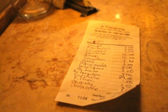 Our bill.